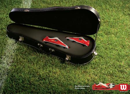 Wilson Soccer Hitman Advertisement