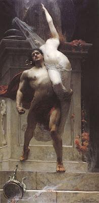 Aiace rapisce Cassandra - Solomon Joseph, 1886.