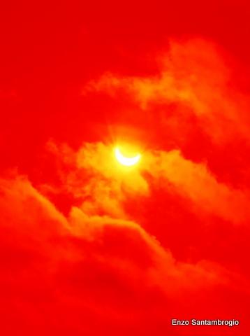 Eclisse a Varanasi