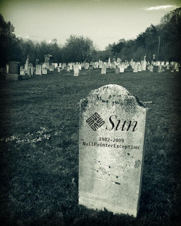 Sun Microsystems tombstone, 1982-2009