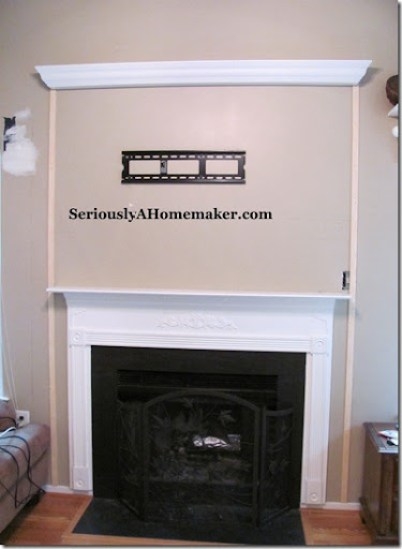 hiding tv cords in trim step 1