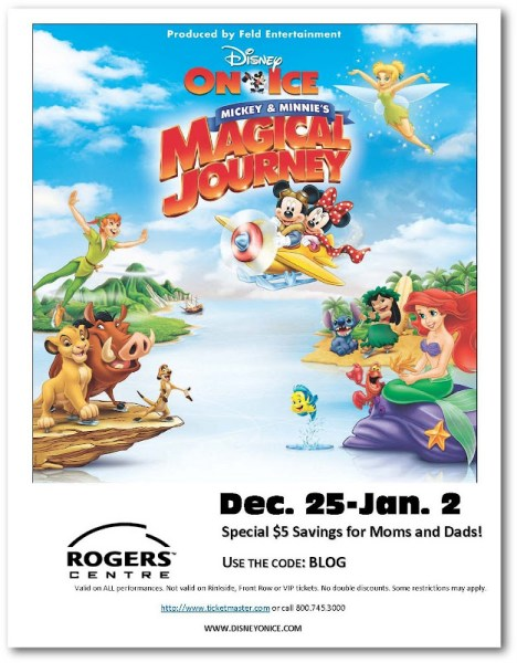 disney on ice mickey magical journey discount code toronto
