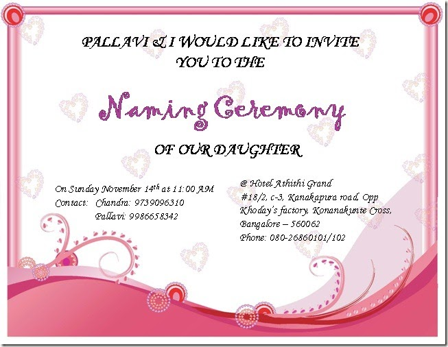 Naming Ceremony Invitation Card Matter In Marathi – Naming Ceremony Invitation Template
