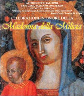 Sizilien - Altavilla Milicia - Plakat zum Fest der Madonna della Milicia