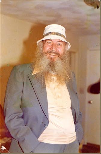 grandpa in fishing hat