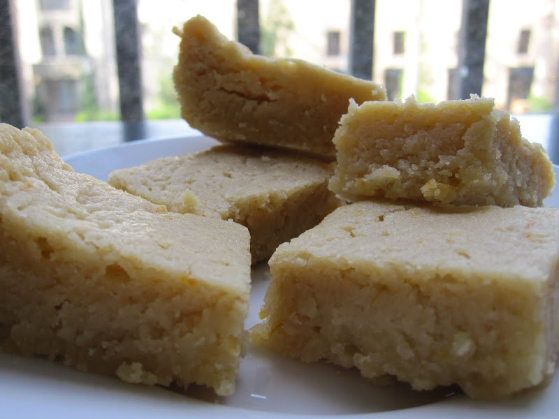 meyer lemon mascarpone blondie bars