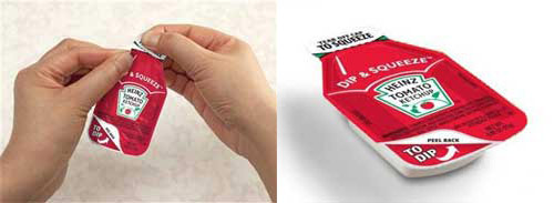 redesigned ketsup packets