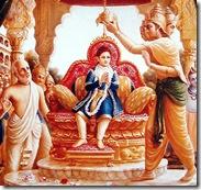 Prahlada being crowned king