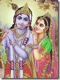 Shrimati Radharani with Krishna
