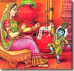 Mother Yashoda with baby Krishna