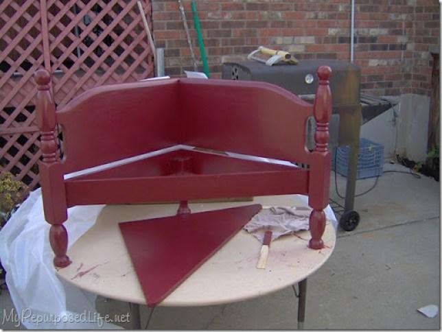 corner bench headboard foot board