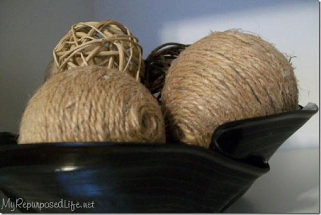decorative jute ball