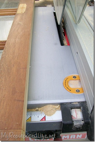 trim the window on the table saw