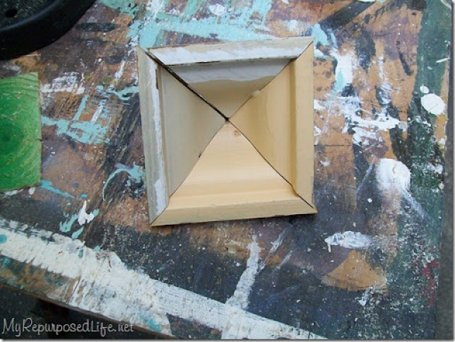 triangle trim pieces make a pyramid