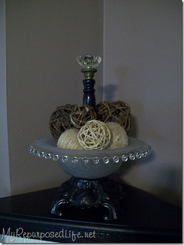decorative bowl using lamp, chair, light fixture parts