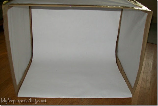 cardboard light box photography