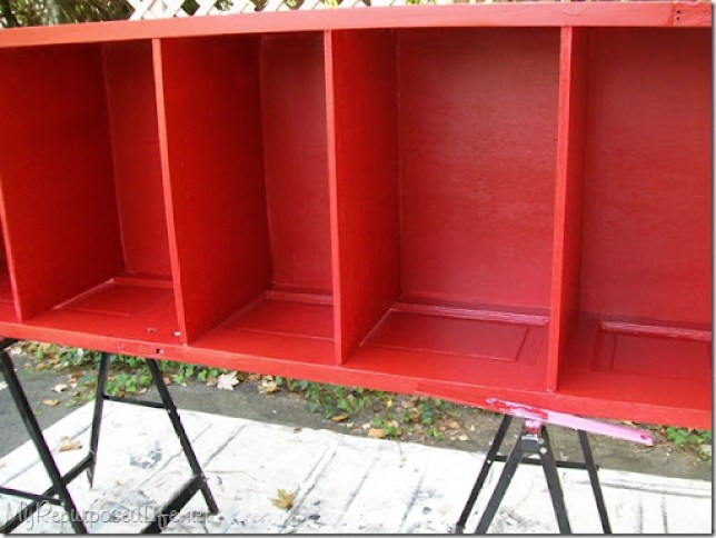 red door bookshelf