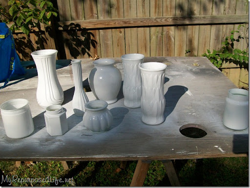 spray paint glass white