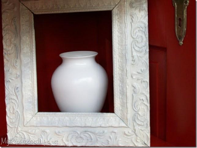 old frame vase painted