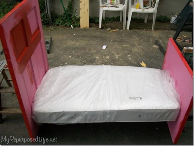 repurposed door (bed)