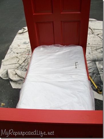 toddler bed made from door uses crib mattress