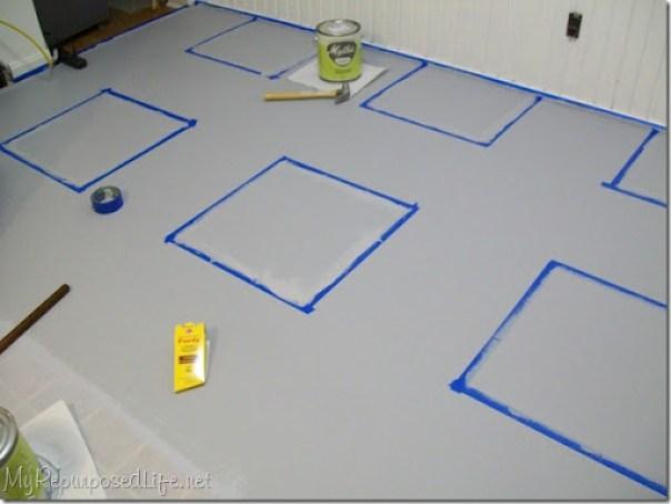Scotch Blue on vinyl floor