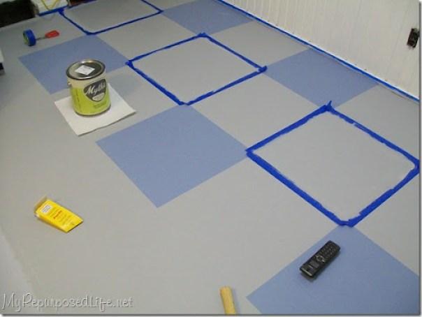 Scotch Blue Painter's tape (vinyl floor)