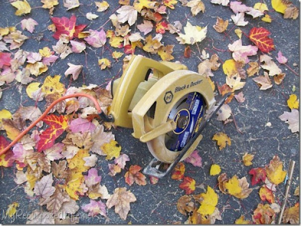 small vintage circular saw