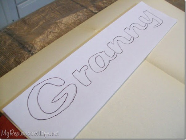 tracing words subway art