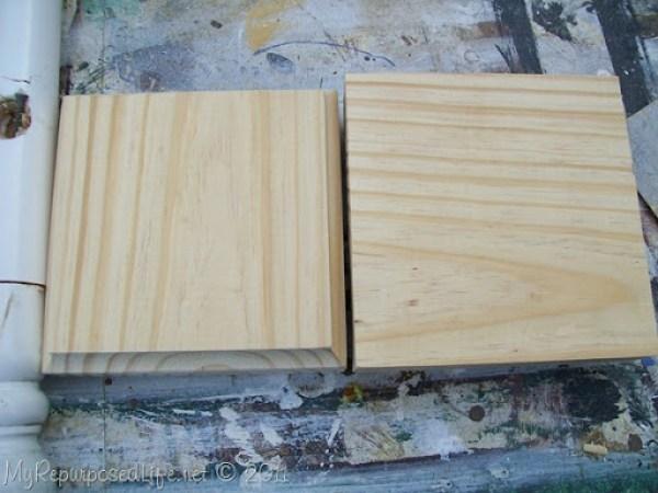 scrap wood blocks
