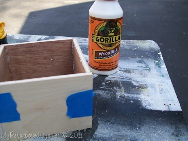 allow pieces to set up before removing painter's tape