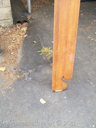repurposed footboard