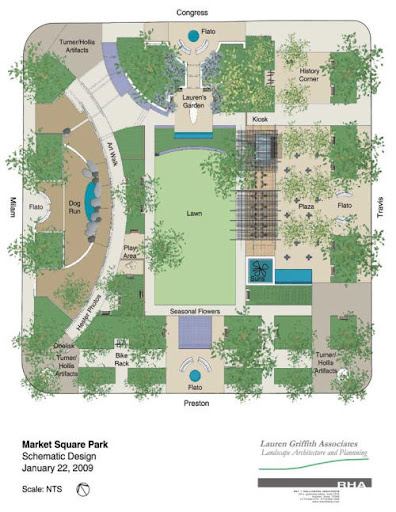 Schematic Design for the New Market Square Park, January 2009