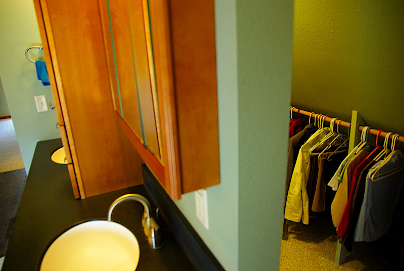 See? This is the closet behind the sinks.