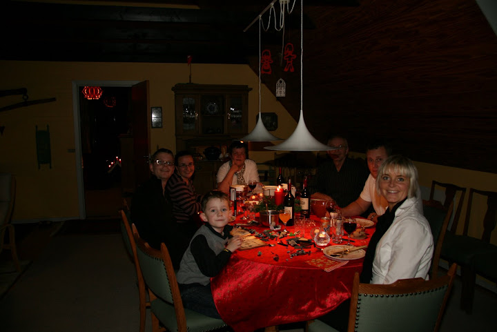 The Family at Christmas Dinner
