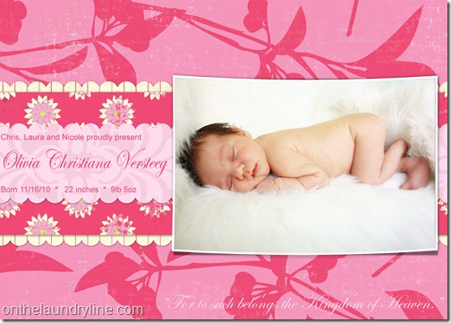OLIVIA BIRTH ANNOUNCEMENT 1