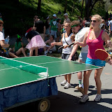 Portable ping-pong = great idea. Also far more challenging to play than you would think.