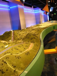 豊橋市水の展示館内の模型