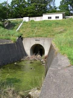 仮排水トンネルを望む