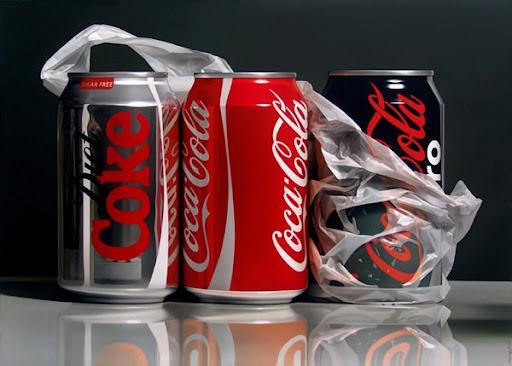 Foto o pintura de latas de coca cola?