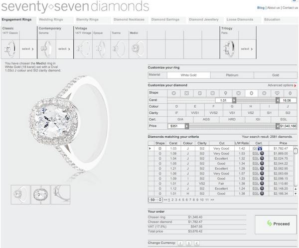 online diamond ring vintage diamond ring