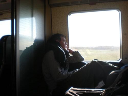On the train destined for Stockholm, Sweden