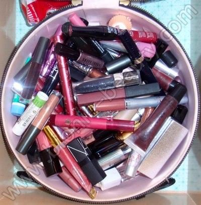 Bionic Beauty's lip color, lipstick, gloss, and balm storage tote