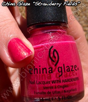 China Glaze Summer Days 2009 nail polish in Strawberry Fields