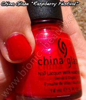 China Glaze Summer Days 2009 nail polish in Raspberry Festival