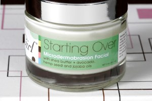 Starting Over Microdermabrasion facial scrub by Garden Girl Skincare
