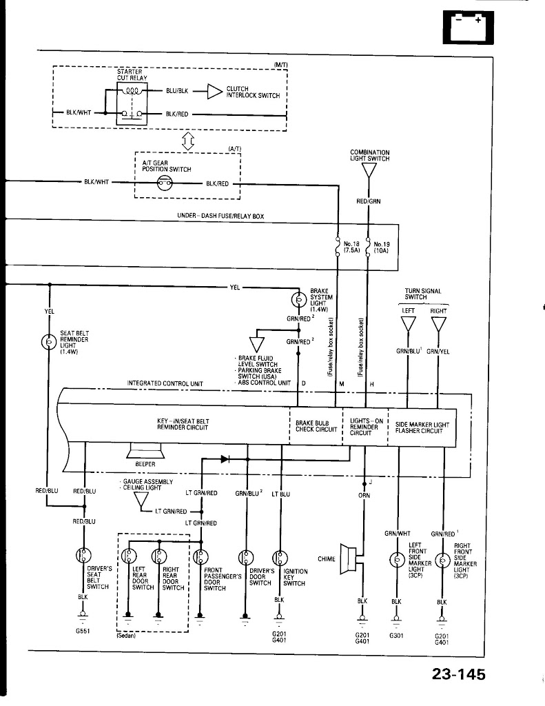 service manual  1988 acura integra fuse box diagram pdf