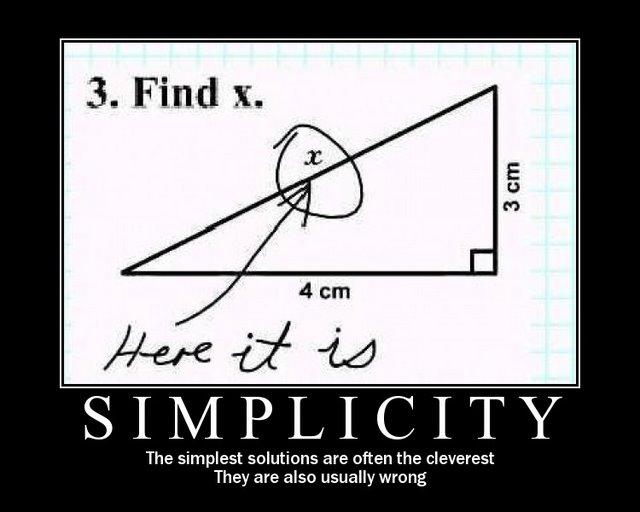 simplicity motivational poster