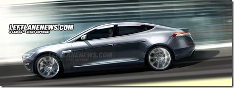 Tesla Models S sideview