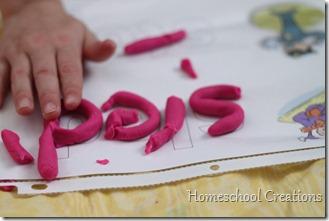 spelling playdough mats